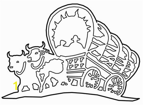 Pioneer Covered Wagon Clipart 37