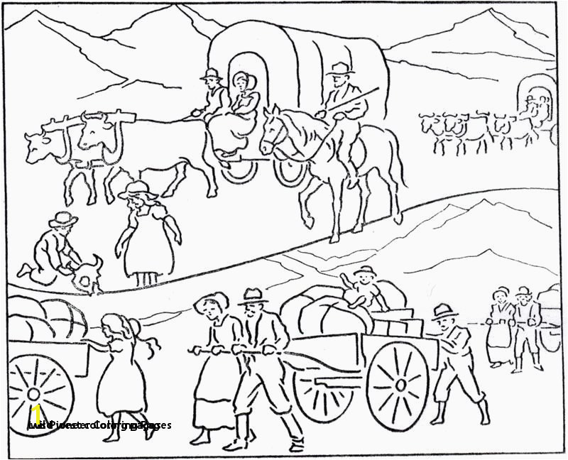 0d Fun Time Wild West Coloring Pages Covered Wagon Coloring Sheet 25 Lds Pioneer Coloring Pages