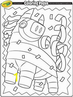Color this playful pi±ata in celebration of Cinco de Mayo