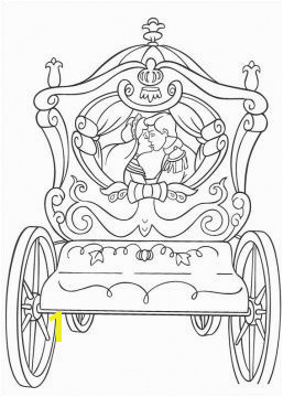 Colouring Pages Cinderella s Wedding Cart for the kids and young at heart