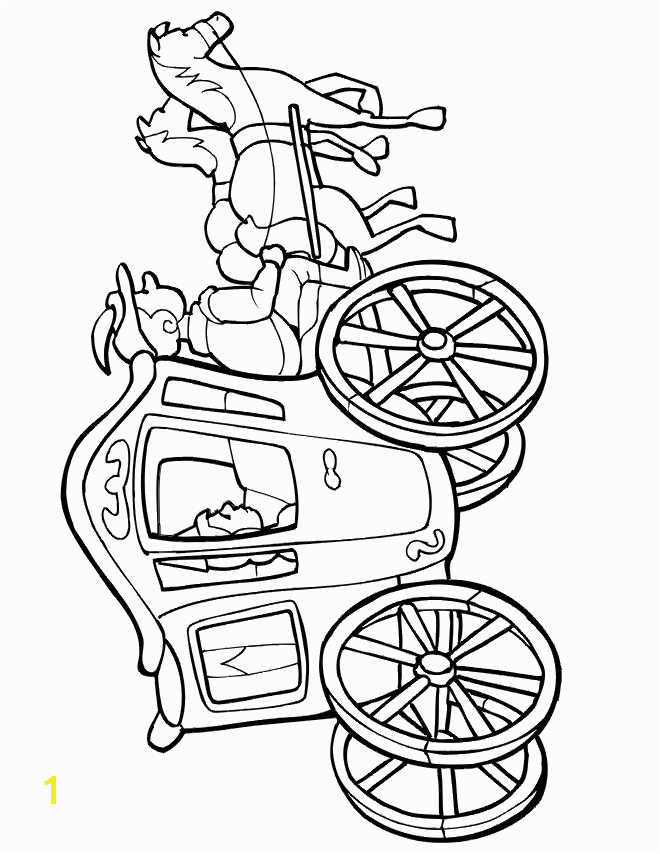 Cinderella Carriage Coloring Page Princess Coloring Pages Princess Carriage to Color