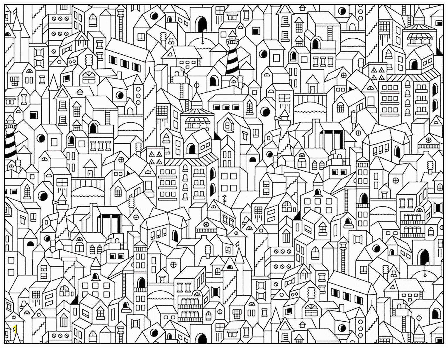 Coloring page City buildings City buildings