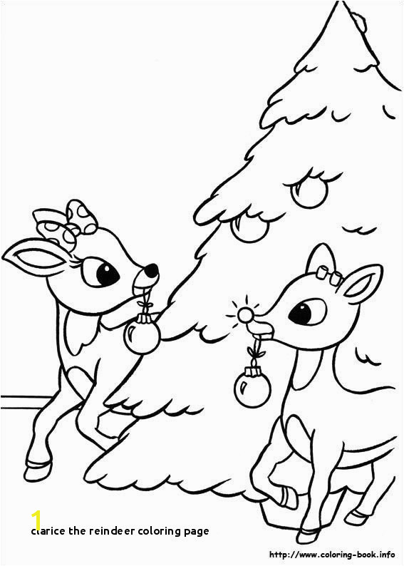 Clarice the Reindeer Coloring Page Rudolph the Red Nosed Reindeer Coloring Pages Rudolph the Red Nosed