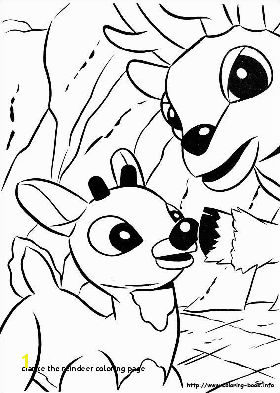 Clarice the Reindeer Coloring Page Rudolph the Red Nosed Reindeer Coloring Picture