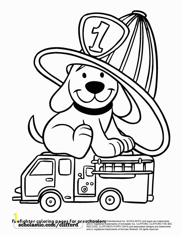 Firedog Clifford Coloring Page children s stuff