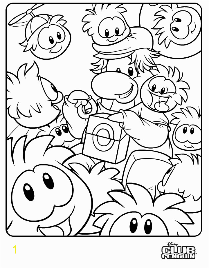 Club Penguin Coloring Pages Puffles Free Printable Coloring