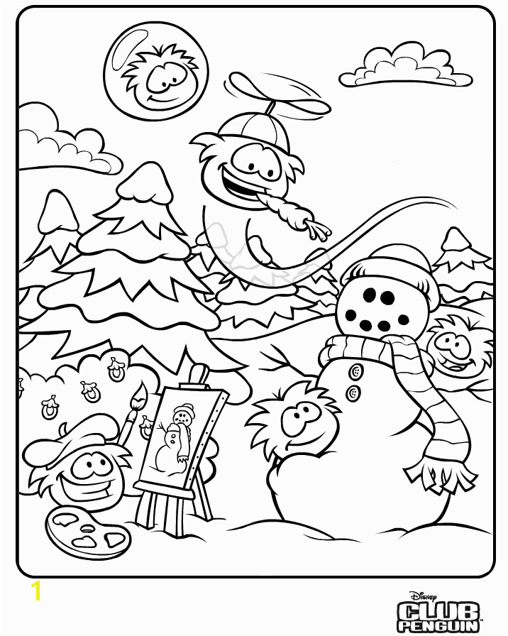 Club Penguin Coloring Pages To And Print For Free