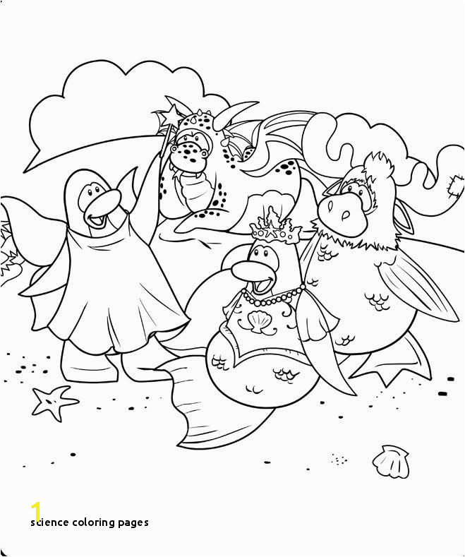 Science Coloring Pages Best Club Penguin Coloring Pages Puffles Print