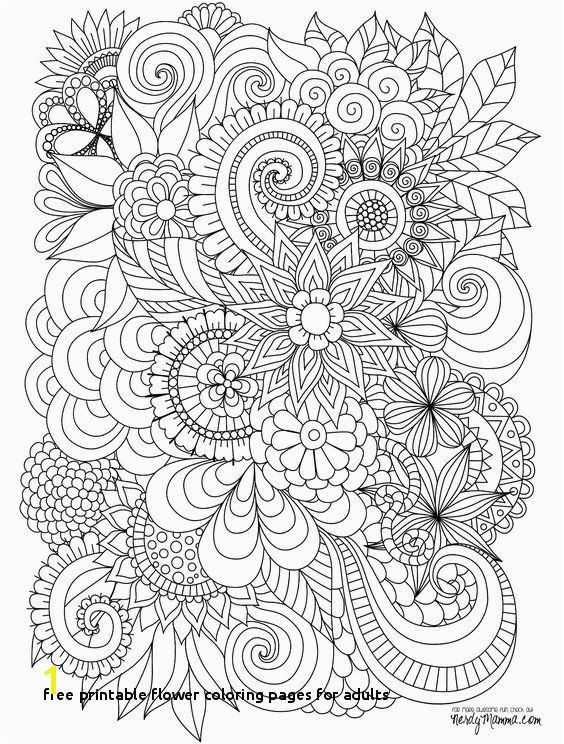 Flower Coloring Pages for Adults Unique Free Printable Flower Coloring Pages for Adults Cool Vases Flower
