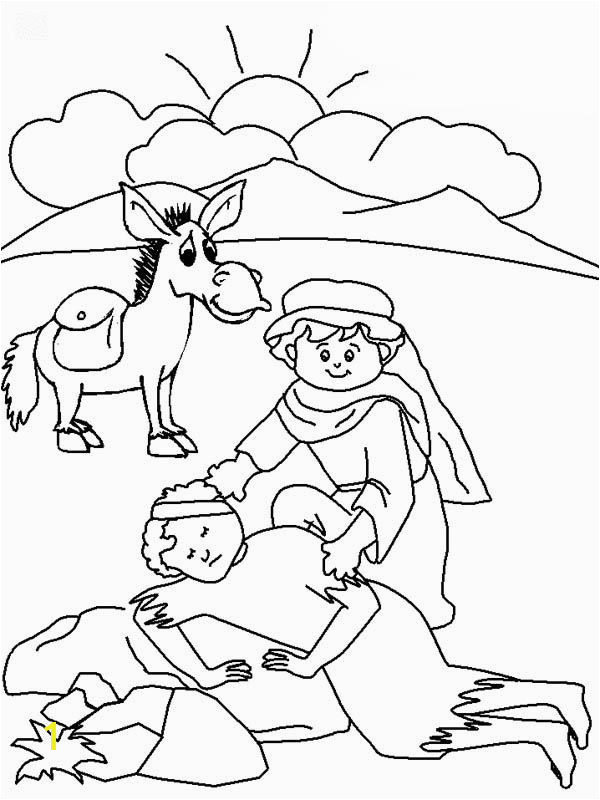Good Samaritan Drawing Coloring Page NetArt