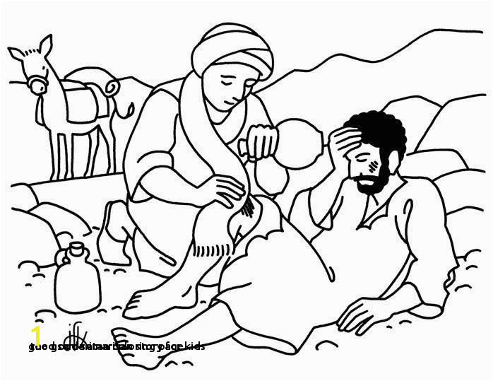 the Good Samaritan Story for Kids 24 Good Samaritan Coloring Page