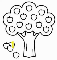 Apple Tree Coloring Pages Kindergarten Coloring Pages Farm Coloring Pages Tree Coloring Page