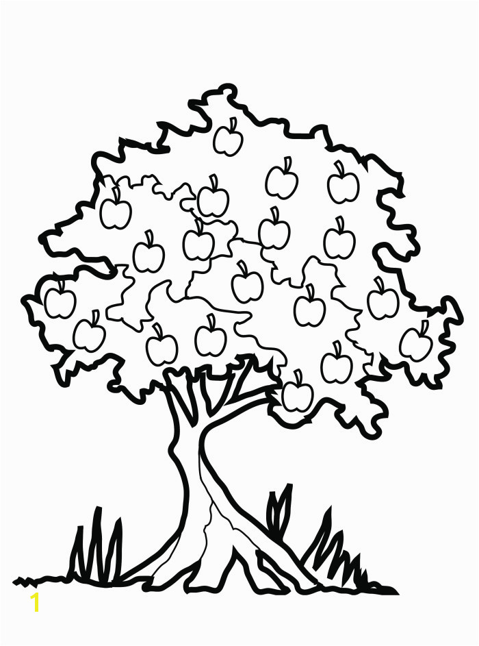 Printable Apple Tree Coloring Pages Tree Coloring Pages Free