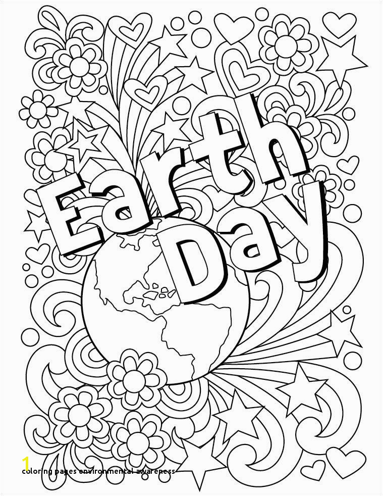 Coloring Pages Environmental Awareness Lovely Earth Day Coloring