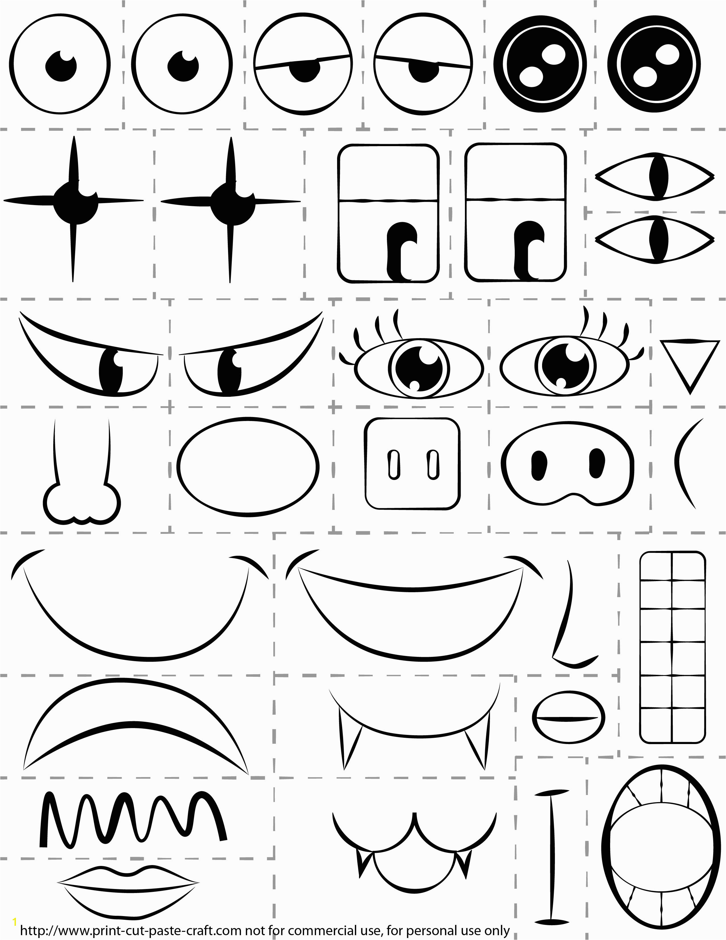 Print Cut Paste Craft Coloring Pages