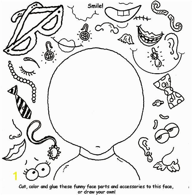 Coloring Pages Face Parts Coloring Pages Face Parts