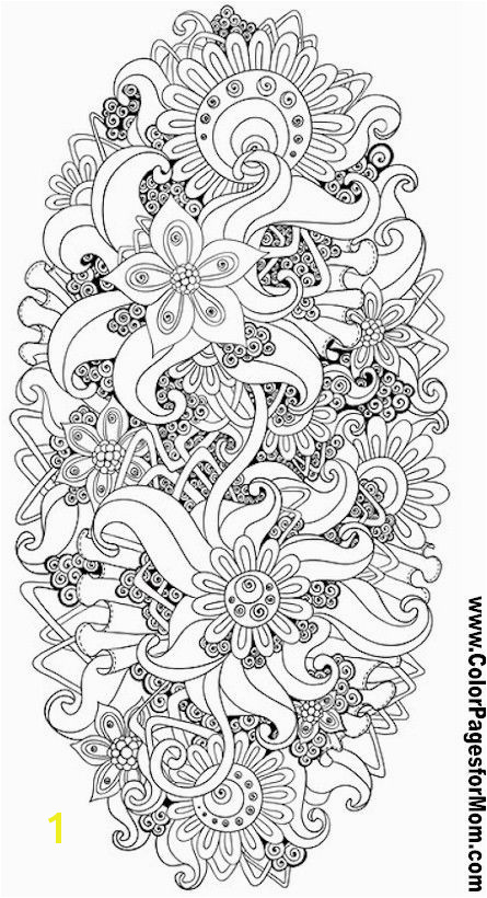 Flower Abstract Doodle Zentangle ZenDoodle Paisley Coloring pages colouring adult detailed advanced printable Kleuren voor volwassenen