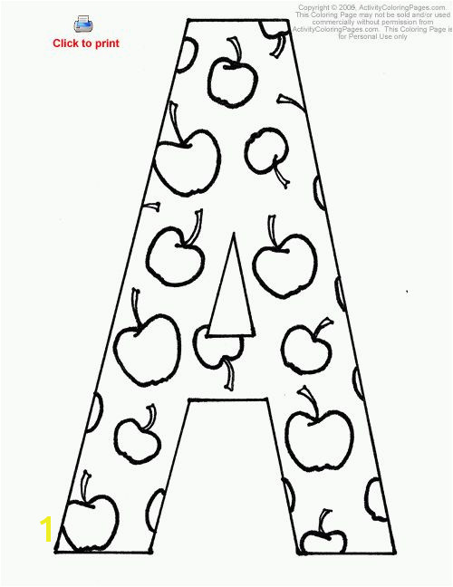 Letter A Activity Coloring Page Printable