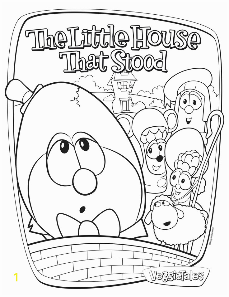 Free coloring page featuring The Little House That Stood