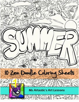 Summer Coloring Pages Zen Doodles