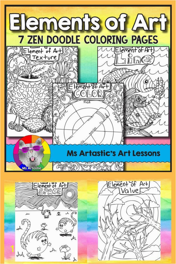 Elements of Art Coloring Pages Zen Doodles