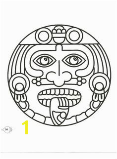 Items similar to Aztec Mexico Mexican Symbolic Image printed in your choice of 11 colors or on a vintage book page on Etsy