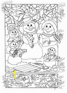 Snowman Hidden Picture Puzzle for Christmas Christmas Games Christmas Colors Christmas Printables