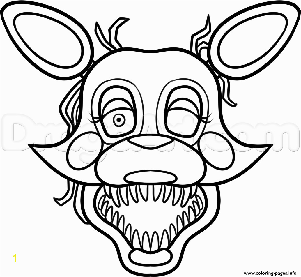 mangle from five nights at freddys 2 fnaf coloring pages printablemangle from five nights at freddys
