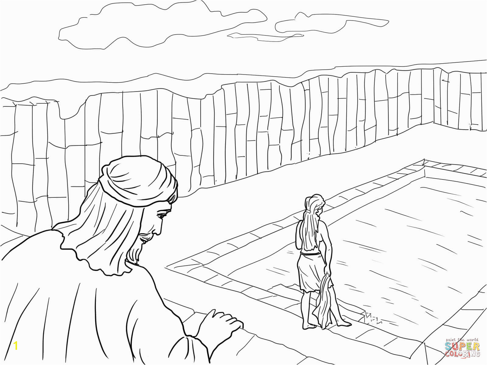 Coloring Pages for Ipad Pro Strange King David and Nathan Coloring Page Coloring Pages