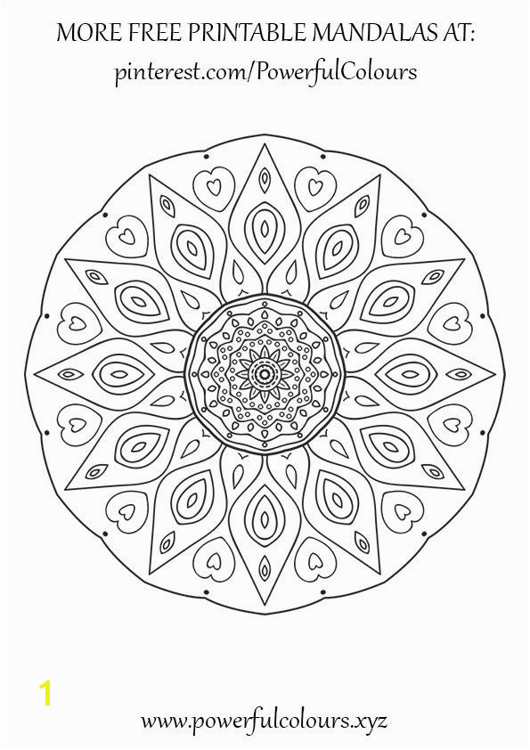 12 FREE Intermediate Mandala coloring pages for adults Alleviate the stress and anxiety with colour therapy Powerful Colours