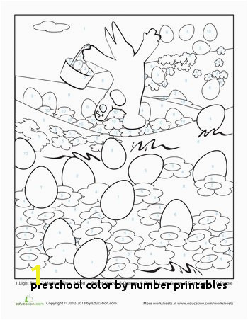 Preschool Color by Number Printables Easter Color by Number Page Homeschooling World Pinterest