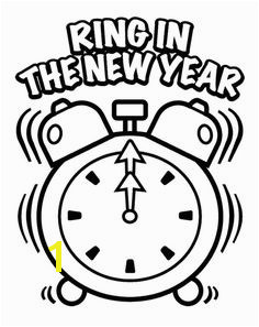 Ring In The New Year Eve Coloring Page New Year Coloring Pages Free Coloring Pages