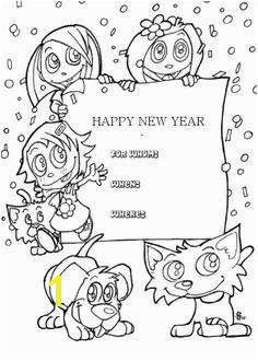 Kids Happy New Year Greeting Cards Coloring Page Happy Birthday Coloring Pages New Year Coloring