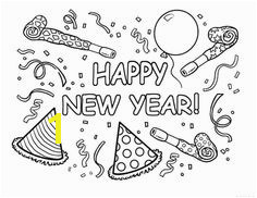 Coloring pages Bullet Journal Anniversaire New Year Coloring Pages New Year s Eve Crafts