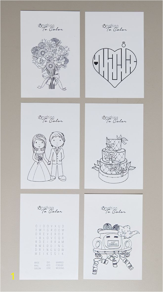 Print these free coloring pages for the kids at your wedding DIY Wedding Ideas Pinterest