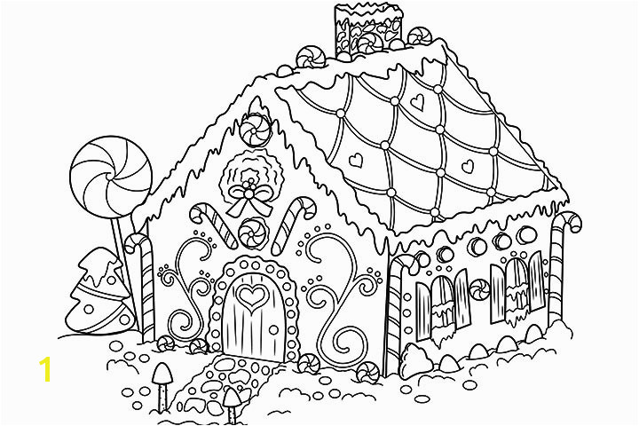 Coloring Pages Gingerbread House Gingerbread Drawing Pencil Sketch Colorful Realistic Art