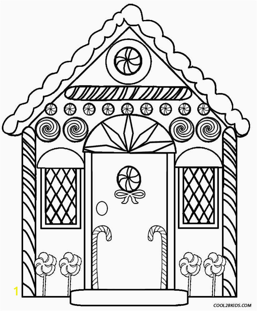 Coloring Pages Gingerbread House Printable Gingerbread House Coloring Pages for Kids