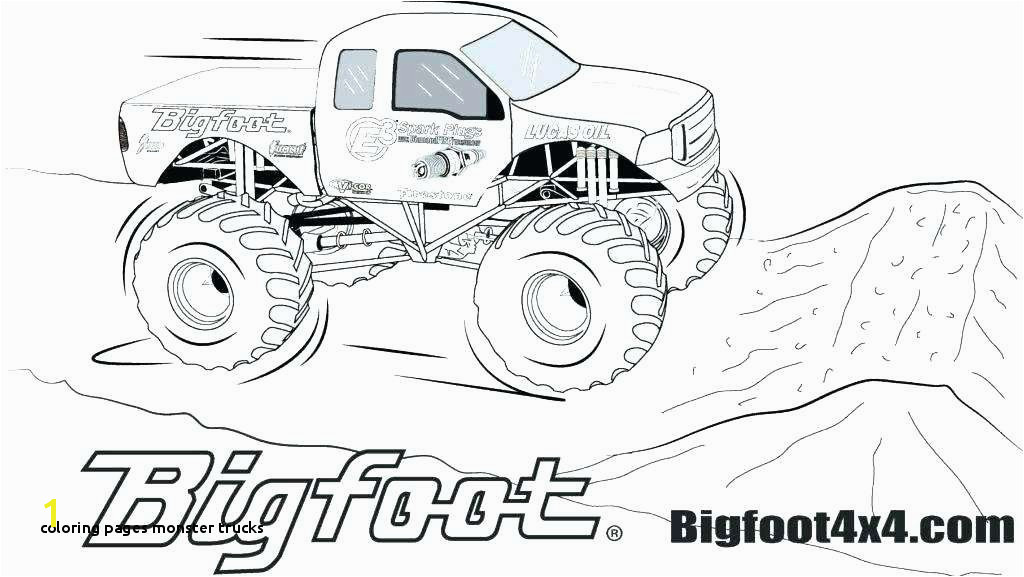 Coloring Pages Monster Trucks Grave Digger Coloring Pages to Print Blaze Monster Truck Awesome