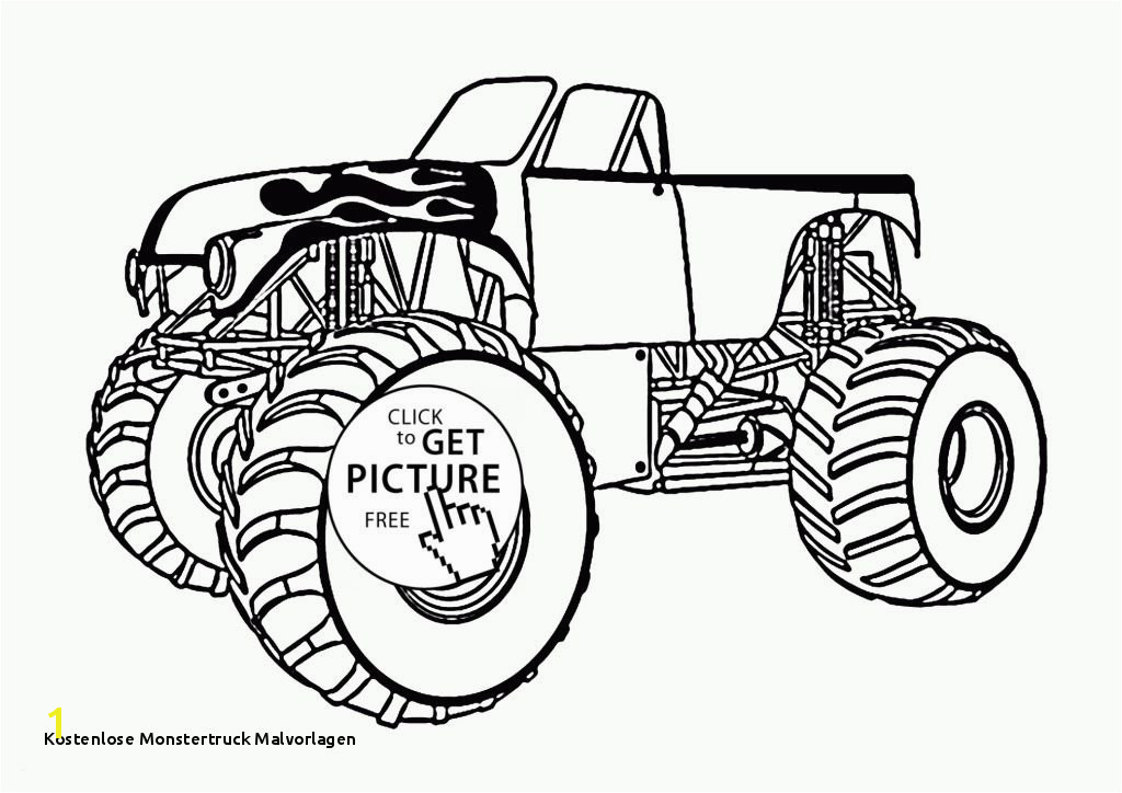 Kostenlose Monstertruck Malvorlagen Leichte Malvorlagen Frisch Monster Truck with An Open top Coloring