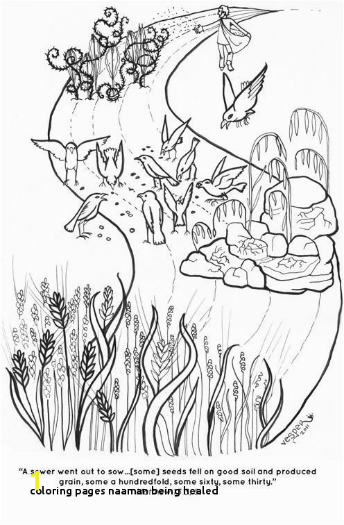 Coloring Pages Naaman Being Healed the Parable the sower Coloring Page '€°