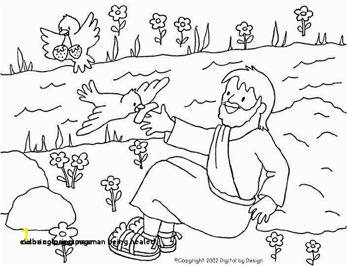 Coloring Pages Naaman Being Healed 25 Elisha Coloring Page