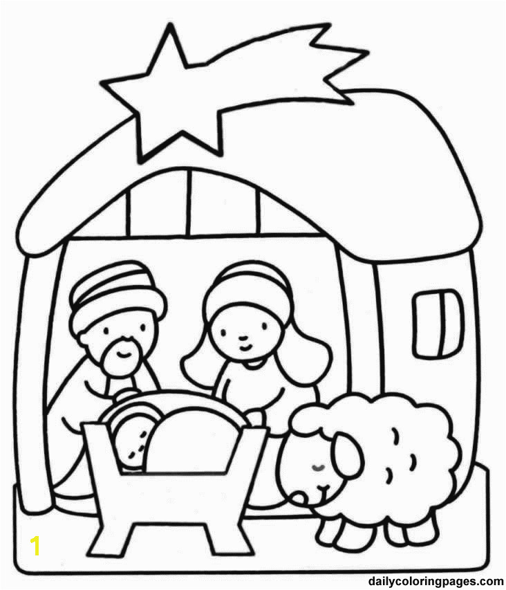 nativity scene bible coloring sheets 05