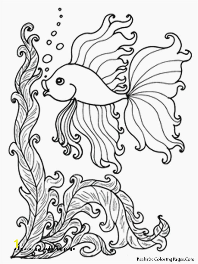 Coloring Pages Ocean Creatures Alligator Gar Coloring Page Beautiful Printable Ocean Animals