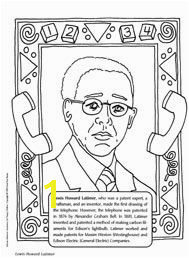 Lewis Howard Latimer coloring sheet a famous inventor patent expert and draftsman