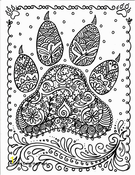Anchor Coloring Page Instant Download Dog Paw Print You Be the Artist Dog Lover Animal