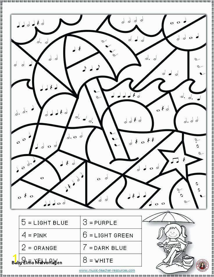 Baby Elmo Malvorlagen the Word Summer Coloring Page with 736x952 Resolution