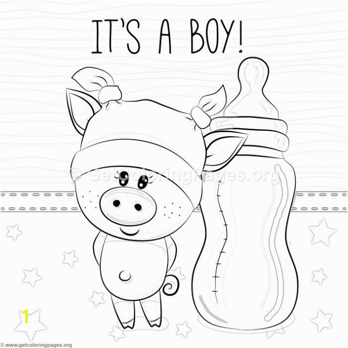 Coloring Pages Of Baby Pigs Free Instant Download Cute It is A Boy Piggy Coloring Pages
