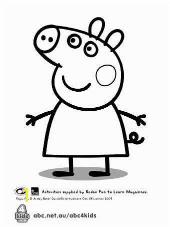 peppa pig template for birthday cake Peppa Pig Coloring Pages Coloring Books Peppa Pig
