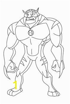 Rath Alien Change Ben Ten Coloring Page