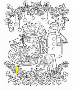 Coloring Pages Of Christmas Cookies 663 Best Coloring Christmas Images On Pinterest